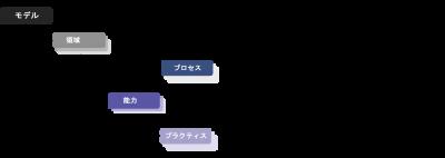 CMMCの成熟度モデルの構成